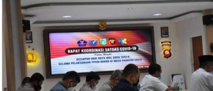 Jelang Perayaan Idul Adha Polres Sintang Rakor Bersama Satgas Covid-19